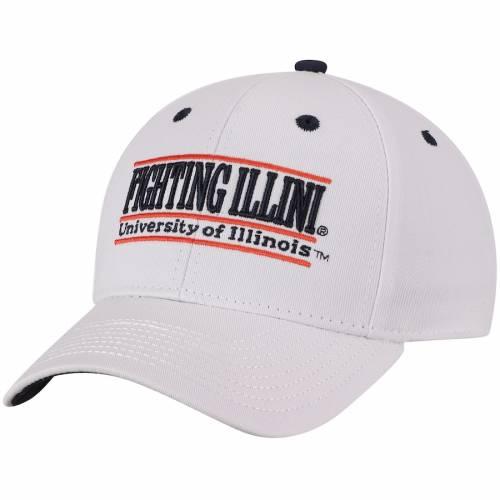 THE GAME イリノイ クラシック スナップバック バッグ 白 ホワイト キャップ 帽子 メンズキャップ メンズ 【 Illinois Fighting Illini Classic Bar Adjustable Snapback Hat - White 】 White