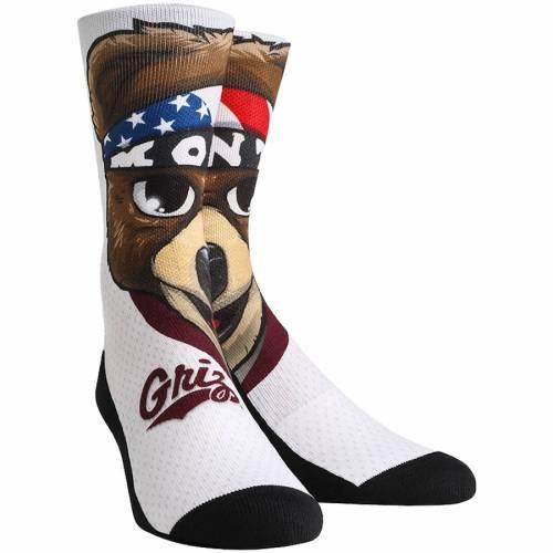 ROCK EM SOCKS モンタナ グリズリーズ ソックス 靴下 インナー 下着 ナイトウエア メンズ 下 レッグ 【 Montana Grizzlies Mascot Crew Socks 】 Color