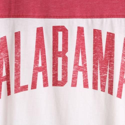 PRESSBOX アラバマ レディース ビンテージ ヴィンテージ Tシャツ 白 ホワイト WOMEN'S 【 VINTAGE WHITE PRESSBOX ALABAMA CRIMSON TIDE WASH LOOSE FIT TSHIRT 】 レディースファッション トップス Tシャツ カッ