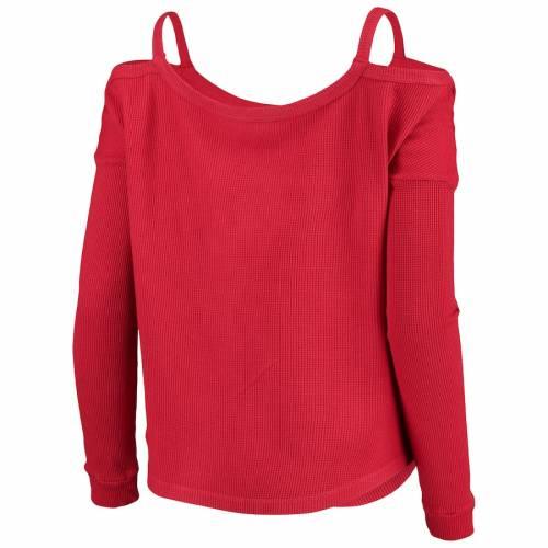 スポーツブランド カジュアル ファッション マジェスティック 無料サンプルOK スレッド MAJESTIC THREADS カーディナルス レディース スリーブ レッド WOMEN'S Tシャツ 長袖 セントルイス 最安値 SLEEVE カージナルス RED 赤 THERMAL