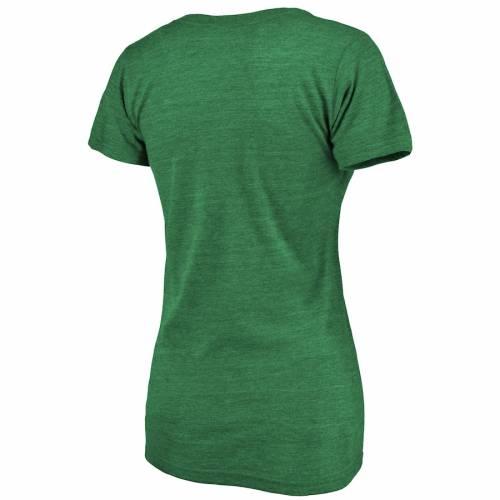 マジェスティック MAJESTIC マジェスティック カーディナルス レディース ブイネック Tシャツ 緑 グリーン STWOMEN'S PATRICK'SGREEN MAJESTIC LOUIS CARDINALS 2019 DAY LUCK TRADITION VNECK TSHIRT KELLYレn0PXNwOk8