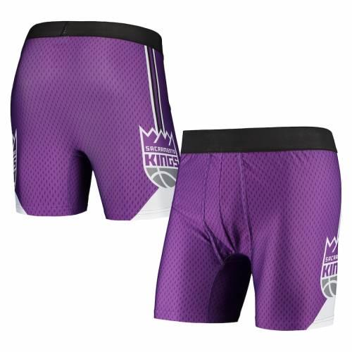 CONCEPTS SPORT サクラメント キングス 紫 パープル インナー 下着 ナイトウエア メンズ 【 Sacramento Kings Flyaway Swingman Boxer Briefs - Purple 】 Purple