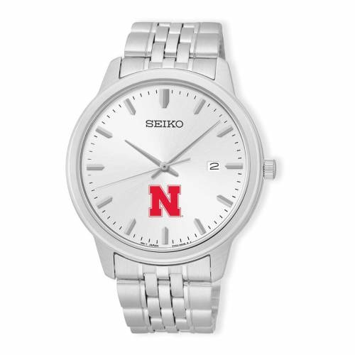 SEIKO ステンレス 銀色 スチール ウォッチ 時計 シルバー 【 WATCH SILVER SEIKO NEBRASKA CORNHUSKERS ANALOG QUARTZ STAINLESS STEEL 】 腕時計 メンズ腕時計
