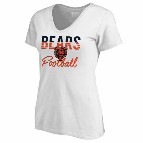 NFL PRO LINE BY FANATICS BRANDED プロ シカゴ ベアーズ レディース フリー ブイネック Tシャツ 白 ホワイト WOMEN'SNFL BEARS FREE WHITE PRO LINE BY FANATICS BRANDED CHICAGO PLUS SIZE VNECK TSHIRTレディースフrBoeCxWd
