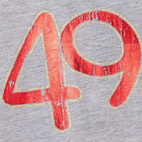 TOUCH BY ALYSSA MILANO フォーティーナイナーズ レディース Tシャツ 灰色 グレー グレイ レディースファッション トップス カットソー 【 San Francisco 49ers Womens Mascot Peplum T-shirt - Heathered Gray 】