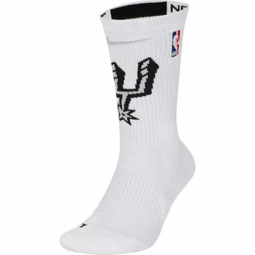 ナイキ NIKE スパーズ エリート チーム パフォーマンス ソックス 靴下 白 ホワイト インナー 下着 ナイトウエア メンズ 下 レッグ 【 San Antonio Spurs Elite Team Performance Crew Socks - White 】 White