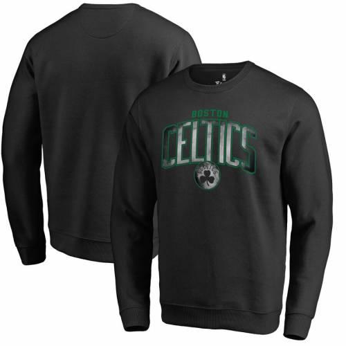 FANATICS BRANDED ボストン セルティックス 黒 ブラック メンズファッション トップス スウェット トレーナー メンズ 【 Boston Celtics Arch Smoke Pullover Sweatshirt - Black 】 Black