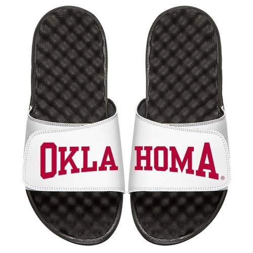ISLIDE 子供用 サンダル キッズ ベビー マタニティ ジュニア 【 Oklahoma Sooners Youth Wordmark Split Slide Sandals 】 White