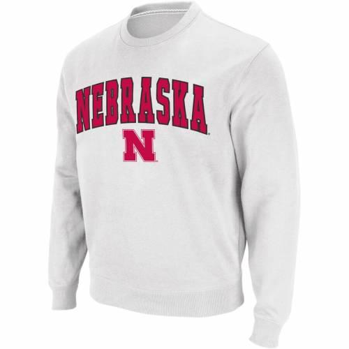 COLOSSEUM ロゴ 黒 ブラック メンズファッション トップス スウェット トレーナー メンズ 【 Nebraska Cornhuskers Arch And Logo Crew Neck Sweatshirt - Black 】 White
