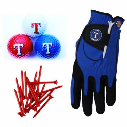 ZERO FRICTION BY TEAM GOLF テキサス レンジャーズ ゴルフ Tシャツ グローブ グラブ 手袋 Balls, スポーツ アウトドア メンズ 【 Texas Rangers Golf Balls, Tees And Glove Set 】 Color