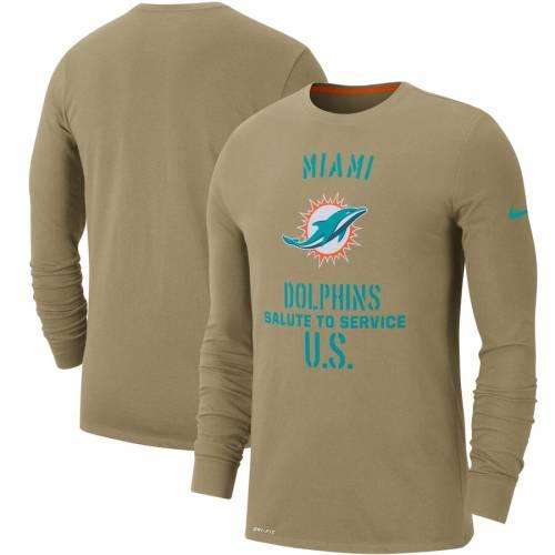 ナイキ NIKE マイアミ ドルフィンズ サイドライン パフォーマンス スリーブ アクア メンズファッション トップス Tシャツ カットソー メンズ 【 Miami Dolphins 2019 Salute To Service Sideline Performa