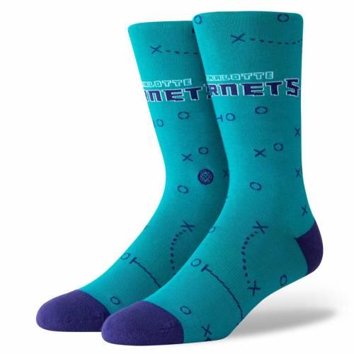 スタンス STANCE シャーロット ホーネッツ ソックス 靴下 インナー 下着 ナイトウエア メンズ 下 レッグ 【 Charlotte Hornets Playbook Crew Socks 】 Color