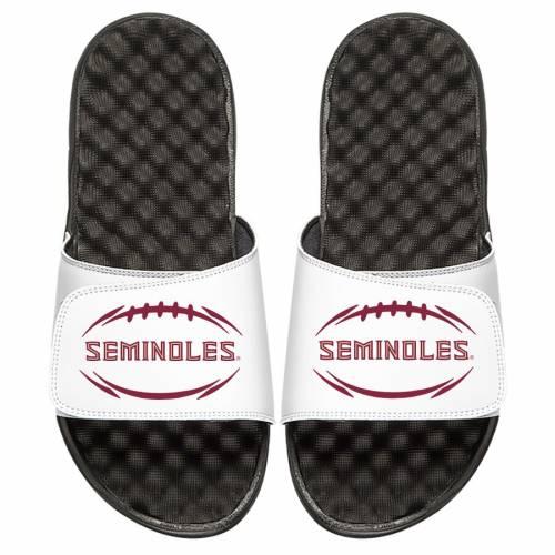 ISLIDE フロリダ スケートボード ロゴ サンダル 白 ホワイト 【 STATE SLIDE WHITE ISLIDE FLORIDA SEMINOLES FOOTBALL LOGO SANDALS 】 メンズ サンダル スポーツサンダル