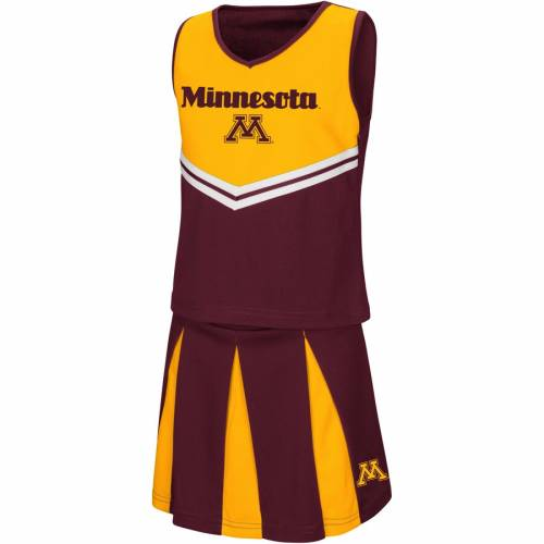 COLOSSEUM ミネソタ 子供用 キッズ ベビー マタニティ ジュニア 【 Minnesota Golden Gophers Youth Girls Pom Pom Cheer Set - Maroon 】 Maroon