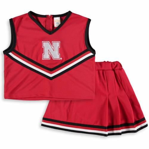 LITTLE KING 子供用 キッズ ベビー マタニティ ジュニア 【 Nebraska Cornhuskers Girls Youth Two-piece Cheer Set - Scarlet 】 Scarlet