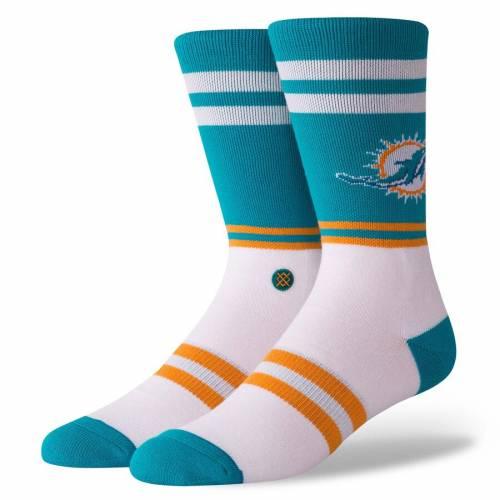 スタンス STANCE マイアミ ドルフィンズ サイドライン ソックス 靴下 インナー 下着 ナイトウエア メンズ 下 レッグ 【 Miami Dolphins Sideline Crew Socks 】 Color