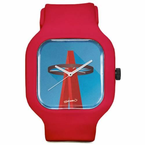 MODIFY WATCHES エンジェルス スタジアム ウォッチ 時計 赤 レッド 【 ANGELS WATCH RED MODIFY WATCHES LOS ANGELES ANGEL STADIUM MINIMALIST SPORT 】 腕時計 メンズ腕時計