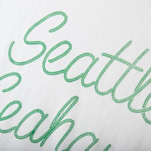 JUNK FOOD シアトル シーホークス レディース スクリプト ラグラン Tシャツ 白 ホワイト WOMEN'SRAGLAN WHITE JUNK FOOD SEATTLE SEAHAWKS RETRO SCRIPT 3 4SLEEVE TSHIRT ROYALレディースファッション トッdBCxoe