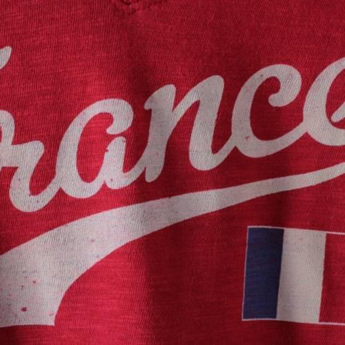 '47 レディース カントリー Tシャツ 赤 レッド '47 WOMEN'SRED FRANCE COUNTRY SCRlJKFcT1