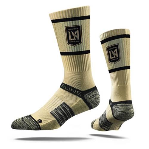 STRIDELINE プレミアム ソックス 靴下 インナー 下着 ナイトウエア メンズ 下 レッグ 【 Lafc Premium Crew Socks - Gold 】 Gold