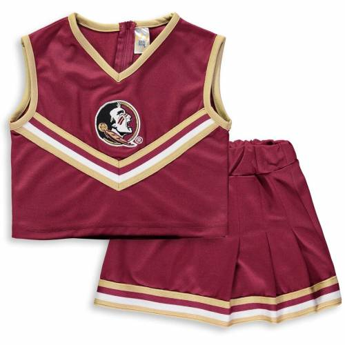 LITTLE KING フロリダ スケートボード 子供用 キッズ ベビー マタニティ ジュニア 【 Florida State Seminoles Girls Youth Two-piece Cheer Set - Garnet 】 Garnet