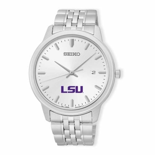 SEIKO タイガース ステンレス 銀色 スチール ウォッチ 時計 シルバー 【 WATCH SILVER SEIKO LSU TIGERS ANALOG QUARTZ STAINLESS STEEL 】 腕時計 メンズ腕時計