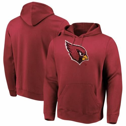 マジェスティック MAJESTIC アリゾナ カーディナルス スクリメージ 赤 カーディナル メンズファッション トップス スウェット トレーナー メンズ 【 Arizona Cardinals Line Of Scrimmage Pullover Hoode