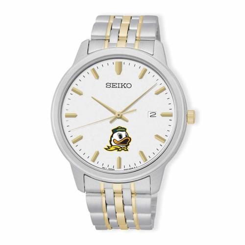 SEIKO オレゴン ブレスレット ウォッチ 時計 銀色 シルバー 金色 ゴールド 【 WATCH SILVER SEIKO OREGON DUCKS PRIME BRACELET GOLD 】 腕時計 メンズ腕時計