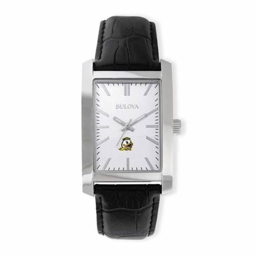 ブローバ BULOVA オレゴン コレクション ストラップ ウォッチ 時計 銀色 シルバー 黒 ブラック 【 WATCH SILVER BLACK BULOVA OREGON DUCKS CORPORATE COLLECTION STRAP 】 腕時計 メンズ腕時計