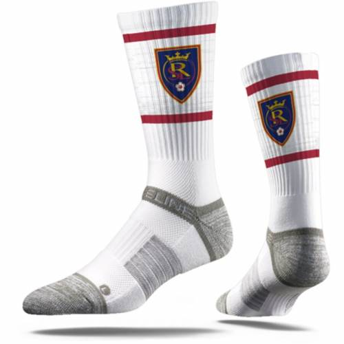 STRIDELINE プレミアム ソックス 靴下 白 ホワイト インナー 下着 ナイトウエア メンズ 下 レッグ 【 Real Salt Lake Premium Crew Socks - White 】 White