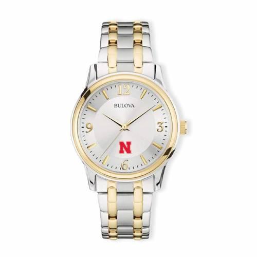 ブローバ BULOVA クラシック ウォッチ 時計 銀色 シルバー 金色 ゴールド 【 WATCH SILVER BULOVA NEBRASKA CORNHUSKERS CLASSIC TWOTONE ROUND GOLD 】 腕時計 メンズ腕時計