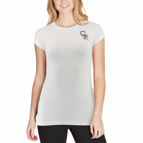 LULULEMON コロラド ロッキーズ レディース テック ラグラン ロゴ Tシャツ 白 ホワイト WOMEN'SRAGLAN WHITE LULULEMON COLORADO ROCKIES SWIFTLY SILVERESCENT TECH LOGO TSHIRTレディースファッション トッwOkuXZTPi