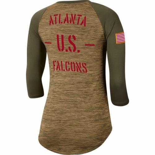 ナイキ NIKE アトランタ ファルコンズ レディース レジェンド ラグラン スリーブ Tシャツ カーキ WOMEN'SLEGEND RAGLAN SLEEVE NIKE ATLANTA FALCONS 2019 SALUTE TO SERVICE SCOOPNECK 3 4 TSHIRT KHAKIレディーBWCdoerx