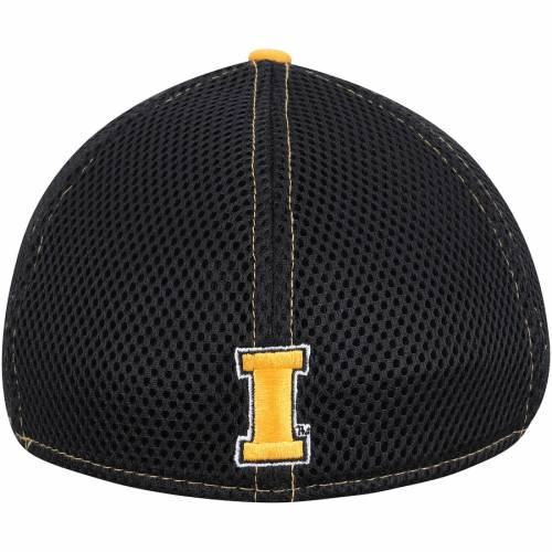 ニューエラ NEW ERA チーム ロゴ ネオ バッグ キャップ 帽子 メンズキャップ メンズ 【 Iowa Hawkeyes Team Front Logo Neo 39thirty Flex Hat - Black/gold 】 Black/gold