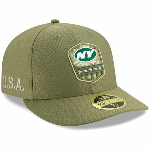 ニューエラ NEW ERA ジェッツ サイドライン オリーブ バッグ キャップ 帽子 メンズキャップ メンズ 【 New York Jets 2019 Salute To Service Sideline Low Profile 59fifty Fitted Hat - Olive 】 Olive