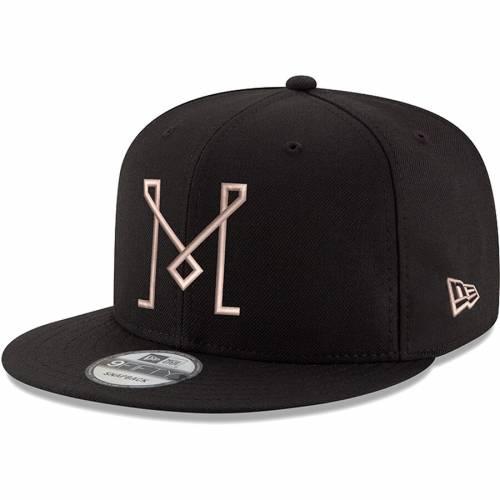 ニューエラ NEW ERA マイアミ スナップバック バッグ 黒 ブラック 【 SNAPBACK BLACK NEW ERA INTER MIAMI CF 9FIFTY ADJUSTABLE HAT 】 バッグ  キャップ 帽子 メンズキャップ 帽子