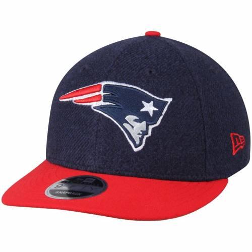 ニューエラ NEW ERA ペイトリオッツ クラシック バッグ キャップ 帽子 メンズキャップ メンズ 【 New England Patriots Classic Trim Snap Low Profile 9fifty Adjustable Hat - Navy/red 】 Navy/red