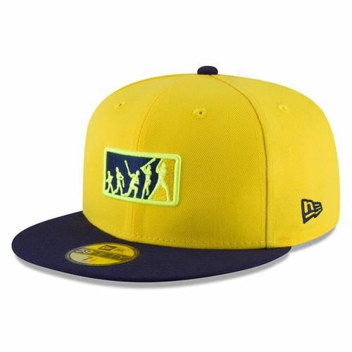 ニューエラ NEW ERA レイズ チーム バッグ キャップ 帽子 メンズキャップ メンズ 【 Tampa Bay Rays 2018 Players Weekend Team Umpire 59fifty Fitted Hat - Yellow/navy 】 Yellow/navy