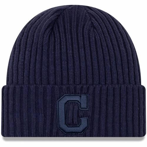 ニューエラ NEW ERA クリーブランド インディアンズ ニット 紺 ネイビー バッグ キャップ 帽子 メンズキャップ メンズ 【 Cleveland Indians Tonal Cuffed Knit Hat - Navy 】 Navy