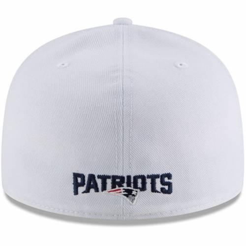 ニューエラ NEW ERA ペイトリオッツ 白 ホワイト バッグ キャップ 帽子 メンズキャップ メンズ 【 New England Patriots Omaha 59fifty Fitted Hat - White 】 White