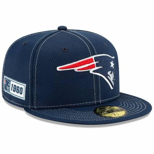 ニューエラ NEW ERA ペイトリオッツ サイドライン 紺 ネイビー バッグ キャップ 帽子 メンズキャップ メンズ 【 New England Patriots 2019 Nfl Sideline Road Official 59fifty Fitted Hat - Navy 】 Navy