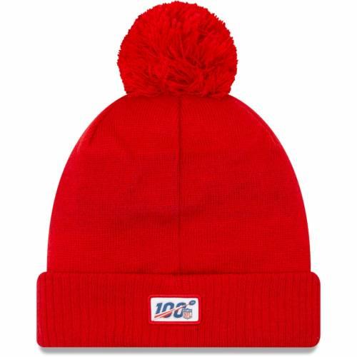 ニューエラ NEW ERA ペイトリオッツ サイドライン ロゴ ニット 赤 レッド バッグ キャップ 帽子 メンズキャップ メンズ 【 New England Patriots 2019 Nfl Sideline Road Historic Logo Sport Knit Hat - Red 】 Red