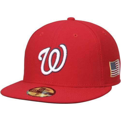 ニューエラ NEW ERA ワシントン ナショナルズ オーセンティック コレクション 赤 レッド バッグ キャップ 帽子 メンズキャップ メンズ 【 Washington Nationals Authentic Collection On-field 59fifty Flex H
