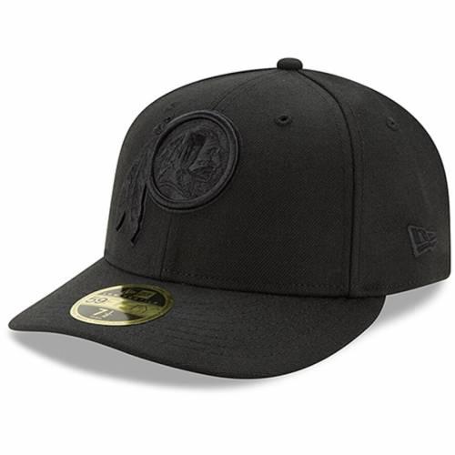 ニューエラ NEW ERA ワシントン レッドスキンズ 黒 ブラック バッグ キャップ 帽子 メンズキャップ メンズ 【 Washington Redskins Black On Black Low Profile 59fifty Fitted Hat 】 Color