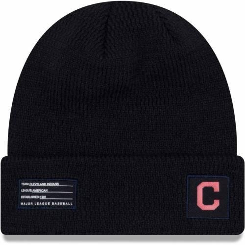 ニューエラ NEW ERA クリーブランド インディアンズ ニット 紺 ネイビー バッグ キャップ 帽子 メンズキャップ メンズ 【 Cleveland Indians On-field Sport Cuffed Knit Hat - Navy 】 Navy