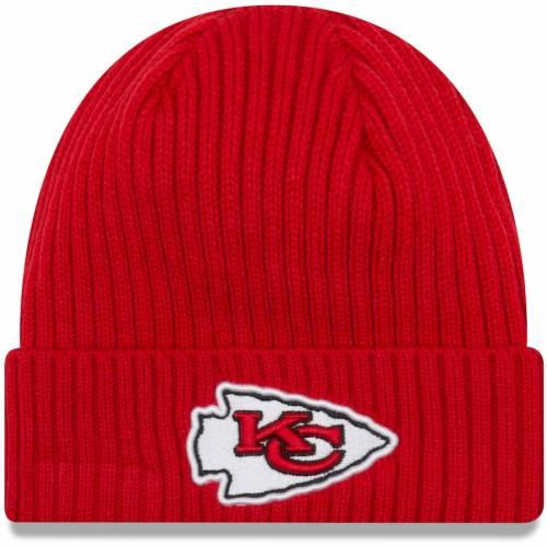 ニューエラ NEW ERA カンザス シティ チーフス チーム コア クラシック ニット 赤 レッド バッグ キャップ 帽子 メンズキャップ メンズ 【 Kansas City Chiefs Team Core Classic Cuffed Knit Hat - Red 】 Re