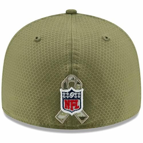 ニューエラ NEW ERA カロライナ パンサーズ サイドライン オリーブ バッグ キャップ 帽子 メンズキャップ メンズ 【 Carolina Panthers 2019 Salute To Service Sideline Low Profile 59fifty Fitted Hat - Olive 】 O
