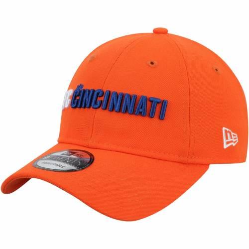 ニューエラ NEW ERA シンシナティ チーム 橙 オレンジ 【 TEAM ORANGE NEW ERA FC CINCINNATI WORDMARK 9TWENTY ADJUSTABLE HAT 】 バッグ  キャップ 帽子 メンズキャップ 帽子