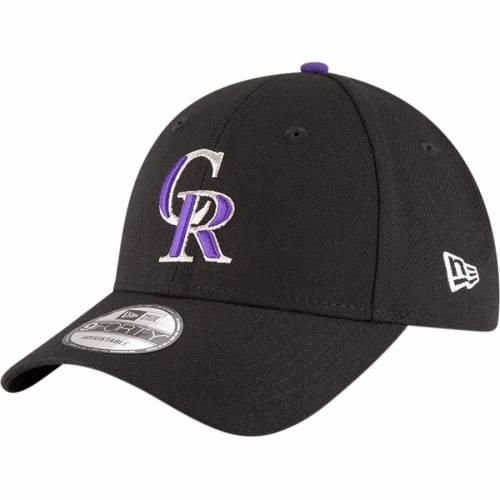 ニューエラ NEW ERA コロラド ロッキーズ ゲーム 黒 ブラック 【 GAME BLACK NEW ERA COLORADO ROCKIES THE LEAGUE 9FORTY ADJUSTABLE HAT 】 バッグ  キャップ 帽子 メンズキャップ 帽子