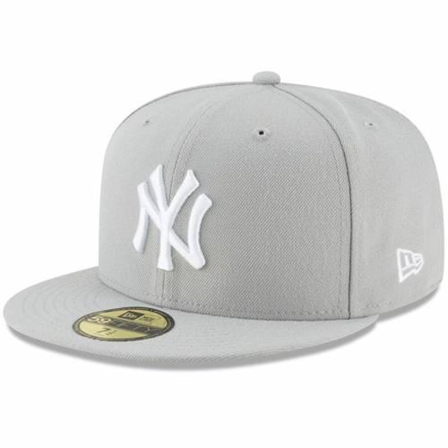 ニューエラ NEW ERA ヤンキース バッグ キャップ 帽子 メンズキャップ メンズ 【 New York Yankees Fashion Color Basic 59fifty Fitted Hat - Crimson 】 Gray